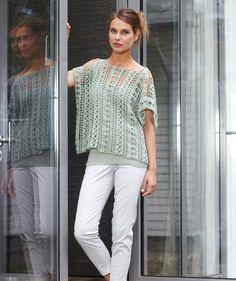 Design S8075 Ladies Crochet Top PDF Pattern (knitSMC), Free, Catania Yarn #catania #sicilia #sicily #eolie