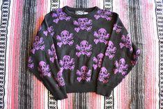 LIP SERVICE Skull N' Crossbones Sweaters shirt #SW1 Sweater Shirt, Pullover Sweaters, Sweater Making, Lip Service, Skull And Crossbones, Esquire, Knits, Personal Style, Fur Coat