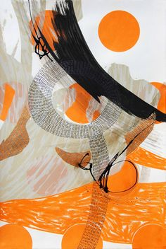 Steph Houstein: Bonescape 86, 2015, silkscreen and mixed media, 38x57cm, u/s stephhoustein.tumblr.com