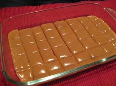Six Minute Caramels    Ingredients  1/4 cup butter  1/2 cup white sugar  1/2 cup brown sugar  1/2 cup light Karo syrup  1/2 cup sweetened condensed milk  Directions:    1 Combine all ingredients.  2 Cook 6 minutes, stirring every two minutes.  3 Stir and pour into lightly greased dish.  4 Let cool.  5 Cut, wrap in wax paper & store in an air tight container. by gena