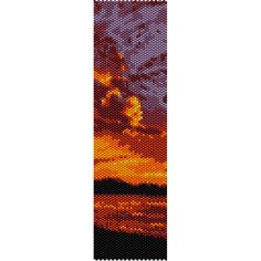 Beach Sunset Peyote Bead Pattern, Bracelet Pattern, Bookmark Pattern, Seed Beading Pattern Miyuki Delica Size 11 Beads, PDF Instant Download by SmartArtsSupply on Etsy