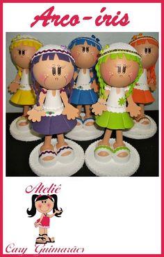 bonecas fofuchas feitas de eva ,uma delicia de fazer!!