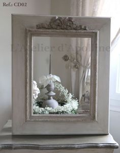 Shabby, Vintage Mirrors, Decoration, Oversized Mirror, Frame, Plus Belle, Home Decor, Bags, Old Mirrors