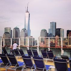 Enjoy the most beautiful view of the Freedom Tower in #nyc from deck of #norwegianbreakaway!