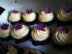PURPLE WEDDING CUPCAKES by Contemporary Cupcakes, via Flickr
