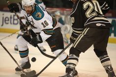 Worcester Sharks alternate captain Bracken Kearns battles for the puck (April 5, 2014).