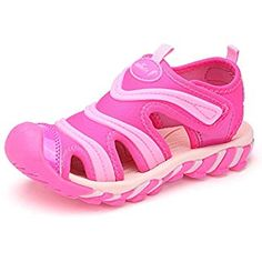 64209f8a53f0 BTDREAM Boy s and Girl s Sports Sandals Breathable Closed-Toe Summer Outdoor  Athletic Beach Shoes Pink · Teva KidsSport ...