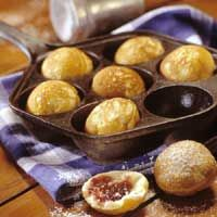 Danish Aebleskiver - this recipe is a little different than the one I use (I'll have to share that on my blog), but we love aebleskivers! We make them on Christmas morning and for birthday breakfasts.