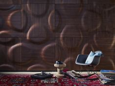 - MOKO Interior's wooden wall coverings generated a great deal of interest at the Design exhibition in London, where the Hungari 3d Wall Panels, Wood Panel Walls, Wooden Walls, Floor Patterns, Wall Patterns, Deco Design, Wall Design, Wall Cladding Designs, 3d Wandplatten
