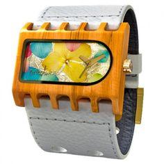 Mistura Timepieces Ferro Santa Elena @ WoodWayShop l 100% Wood l 100% Real Flowes l 100% Real Gold