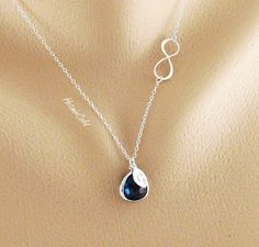 Initial Infinity Necklace-love that it has my birthstone!