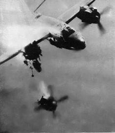 b-26 hit by flak