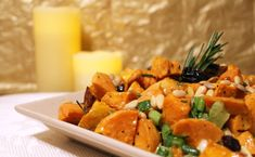 Here's a great organizing day dish or a new side for your Thanksgiving dinner: Festive Sweet Potato Salad