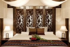 ASIAN STYLE:Residence|Indonesia wood relief,bed,light,textile(KAJA)