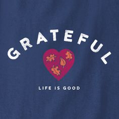 It's often the people who have faced the greatest challenges that gain an elevated sense of gratitude for life. These tees remind us that the choice of optimism empowers us all to weather the storms and enjoy the ride. #Gratitude #Thanksgiving
