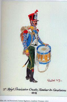 Tamburo dei carabinieri del 3 rgt. di fanteria croato