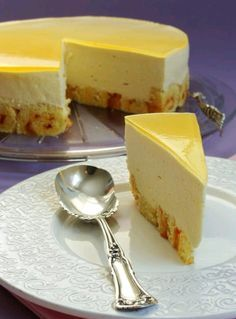 Mango Mousse Cake - I'm obsesed with mango and this dessert was seriously incredible!
