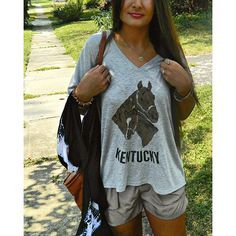 """New #weekendwardrobe post up on the blog featuring our new @kentuckybrewedtees shirts! You can now shop our exclusive """"Kentucky Souvenir Tee"""" in three styles at missmollyvintage.com {$22-25 sizes S-XL} I will be dropping these off at our booth at Feather Your Nest Antiques later today but these are sure to sell out quick! Order online now to ensure that you get the size you want (if you are in Lexington enter code LOCAL for free shipping).  {tap photo for outfit details}  #anthropologie…"""