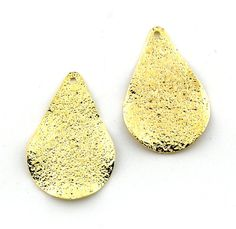 8pcs 17x25mm Gold Plated Pear Shape by FancyGemsandFindings, $7.20