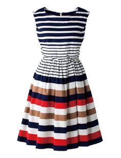 マルチボーダーワンピース ワンピース ワンピース・チュニック | 女性ファッション通販サイトFABIA(ファビア)