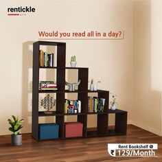 How many books can you read in one day? Let us know in the comment?  Rent Bookshelf   Thinking of Renting. Think of Rentickle! . . . #bookshelfstyling #bookshelfie #bookshelf #booklover #booksofinstagram #bookshelfdecor #bookaesthetic #bookobsessed #rentickle