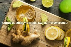 Ditch the energy drinks. Switchel, a simple mixture of water, ginger, maple syrup, and vinegar, is packed with electrolyte and gut health benefits.