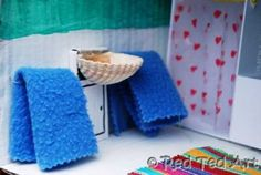 Doll House Bathroom  Even the tiniest of doll houses need a bathroom fit for a queen. We've equipped this bathroom with recyclables from around the house, making a sink, toilet and shower!