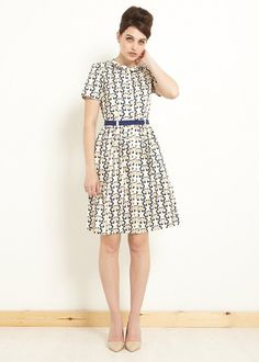 People Tree | Orla Kiely Love Birds Shirt Dress
