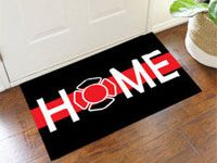 Firefighter Support welcome home door mat is approximately 2 ft. x 3 ft. Support firefighters personal indoor doormat represents all workers in the fire deparment. This firefighter welcome home mat is a perfect retirement gift for firefighters. Firefighter Home Decor, Firefighter Family, Firefighter Paramedic, Female Firefighter, Firefighter Gifts, Volunteer Firefighter, Firefighter Wedding, Fire Dept, Fire Department