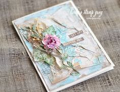 Eco Style card by Elena Zemlyanskaya | Lindy's Stamp Gang