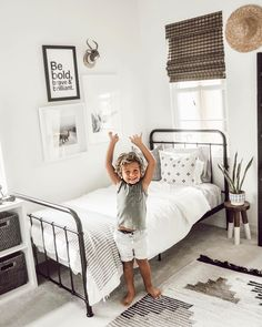 Toddler Rooms, Baby Boy Rooms, Toddler Bed, Boys Room Decor, Kids Bedroom, Cool Kids Rooms, Baby Room Design, Minimalist Room, My New Room