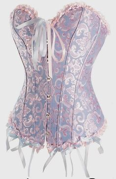 New Moon Corset (Blue and pink)great lingerie website Pretty Lingerie, Sexy Lingerie, Corset Vintage, Pretty Outfits, Cute Outfits, Sexy Corset, Blue Corset, White Corset, Overbust Corset