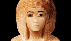 """Enigma by Janice Kamrin   It seems to me that aesthetically this goes well beyond meeting the need of surviving into the afterlife.""""   Canopic Jar with a Lid in the Shape of a Royal Woman's Head (detail), ca. 1352–1336 B.C. New Kingdom, Amarna Period. The Metropolitan Museum of Art, New York. Theodore M. Davis Collection, Bequest of Theodore M. Davis, 1915 (30.8.54)"""