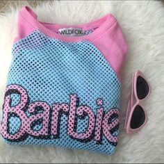 WILDFOX X BARBIE SZ LARGE SPORTS SWEATER New no tags Wildfox Sweaters