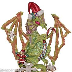Kirks Folly Draco's Christmas Dragon Pin /Enhancer FREE SHIP