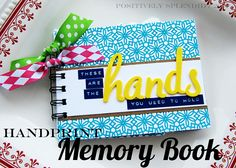 Adorable handprint mini book by Positively Splendid. Would make a sweet gift for new parents or grandparents.