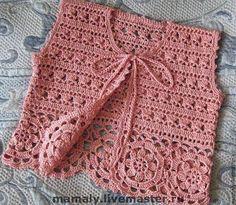 Irish lace, crochet, crochet p Crochet Coat, Crochet Blouse, Crochet Clothes, Baby Girl Crochet, Crochet For Kids, Knitting Help, Baby Knitting, Freeform Crochet, Irish Crochet