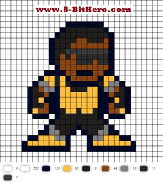 Power Man Updated Perler Bead Pattern