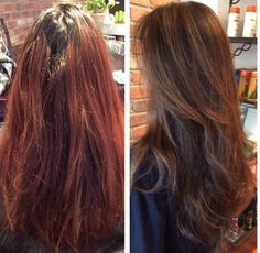Amazing hair transformation done by our talented team at The Beauty Box in Rye, Ny.