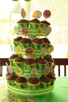 Muppets cupcake display