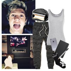 Trying to study in home with NIall - Polyvore