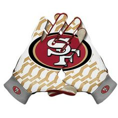 football gloves for EJ Football Gloves, Football Pictures, Nike Nfl, Mens Gloves, Foot Locker, San Francisco 49ers, Sport Wear, Baby Car Seats, Under Armour