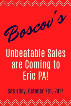 Boscov's is going to change how #EriePA shops! Don't miss @Boscovs Erie #newstoreopening on Saturday, October 7th, 2017 at 9:30 AM. #sponsored via @rewardmyshoppin