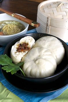 Siopao - steamed bun with meat filling. My favorite was the siopao with asado pork filling from: Adora's Box. Filipino Recipes, Asian Recipes, Filipino Food, Hawaiian Recipes, Filipino Dishes, Siopao Recipe, Pork Recipes, Cooking Recipes, Steamed Pork Buns