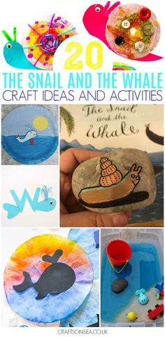 20 The Snail and The Whale Craft Ideas and Activities - Crafts on Sea Arts And Crafts For Adults, Easy Arts And Crafts, Crafts For Kids, Paper Plate Crafts, Book Crafts, Toddler Crafts, Preschool Crafts, Creative Crafts, Fun Crafts