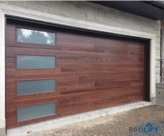 Garage Doors with Windows - doors Garage Windows - Garage Doors with Windows .Garage doors with Windows - doors Garage Windows - Garage doors with Windows - doors Stylish, modern garage Contemporary Garage Doors, Modern Garage Doors, Garage Door Styles, Garage Door Design, Modern Door, Diy Garage, Garage Storage, Faux Wood Garage Door, Garage Door Hardware