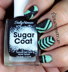 awesomebrush: Sally Hansen Sugar Coat Swatches and Mix 'N Match Nail Art (Picture Heavy)