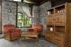 Vplyv života v odľahlých vysokohorských dedinkách inšpiroval dizajnéra k vytvoreniu kolekcie Coeur des Alpes, kde sa snúbia čisté línie s výrezom ornamentov. Starostlivo vyberané kovania ako aj drevené švíky dodávajú nábytkom svojráznosť. #furniture #countrywoodfurniture #furnituring #woodworkingskills #cottage #woodfurniture #woodfurnituredesign #cottagestyle #cottagefurniture #furnitureproduction #interiery #masivnynabytok #masiv #chatari #nabytok Evergreen, Furniture, Alps, Home Furnishings, Arredamento