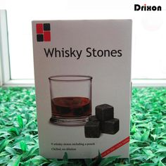 Drixon 6 Colors Christmas Gift Whisky Stones in DELICATE GIFT BOX Whiskey Wine Stone Whisky Rock Ice Cube Wedding Decoration