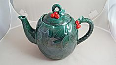 Lefton Holly Berry 4 Cup Teapot